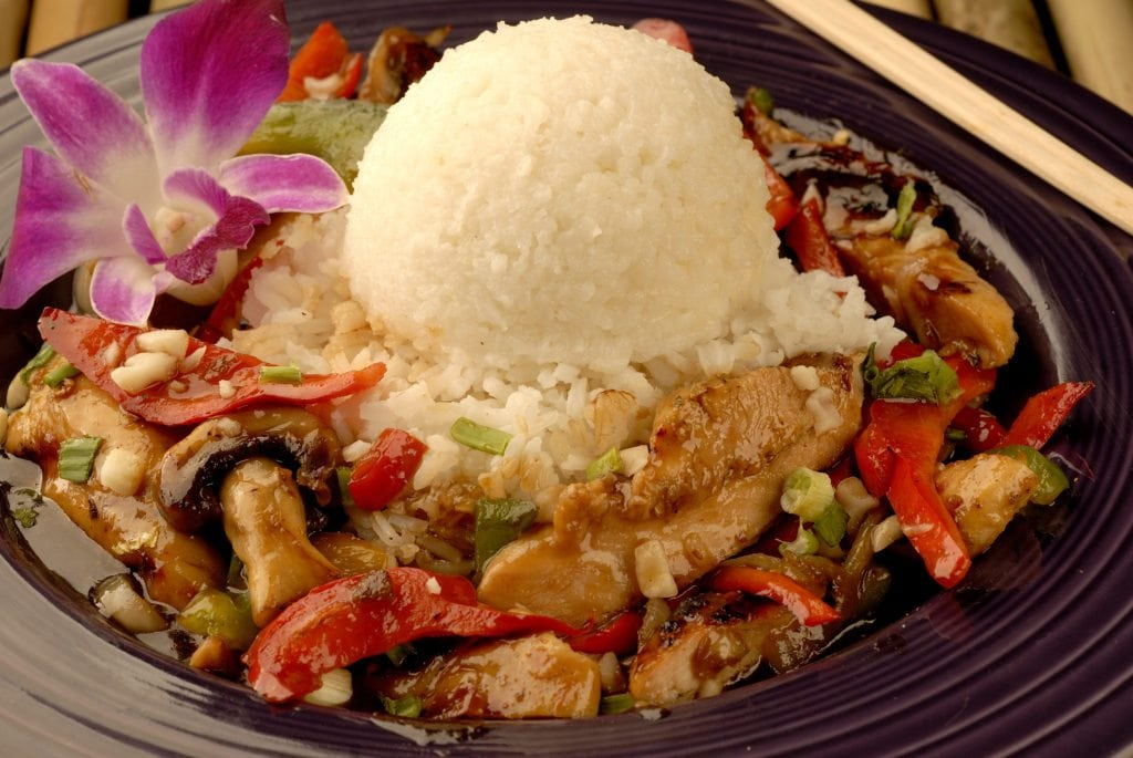 Chicken and Rice Bowl of Food